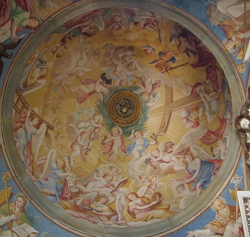 Ambito umbro sec. XVII, Trionfo d'angeli con simboli della Passione