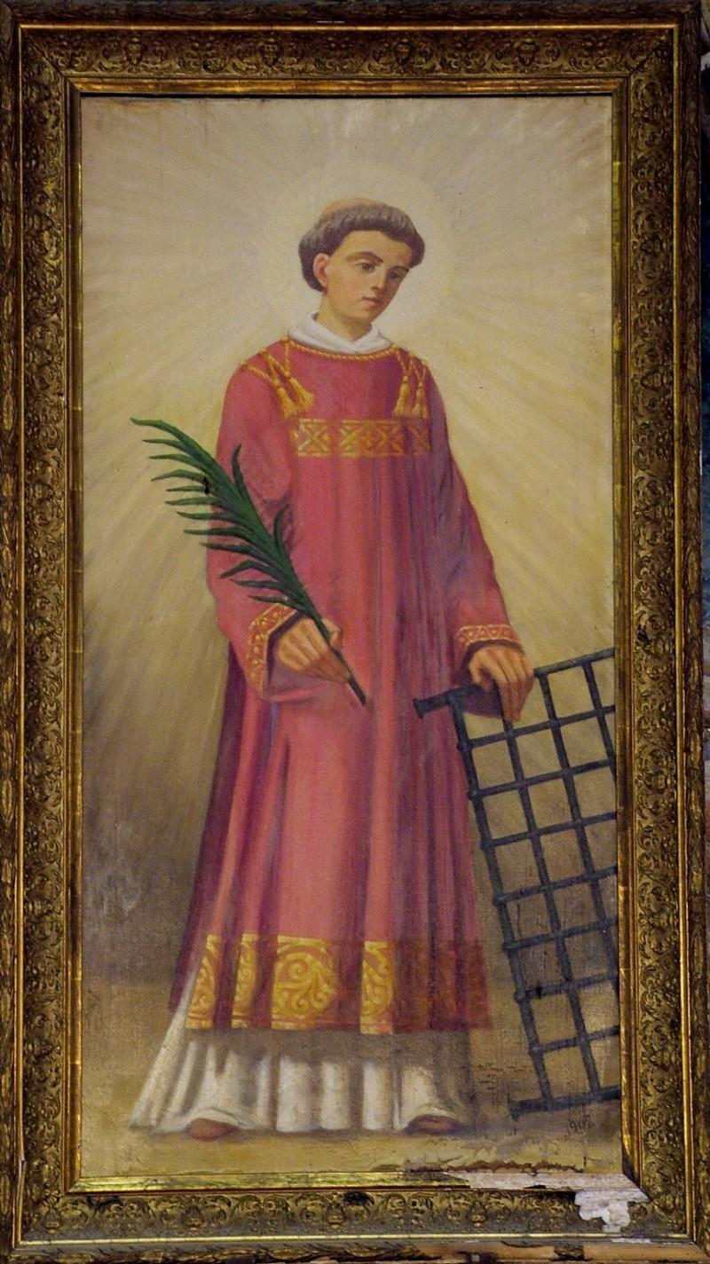 Ambito umbro (1908), San Lorenzo martire con la graticola e la palma