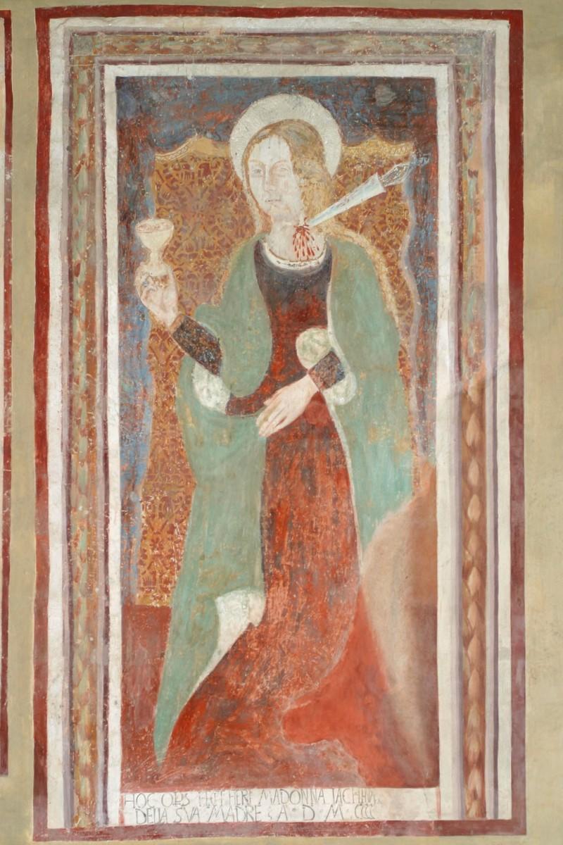 Scuola umbra sec. XV, Santa Cristina da Bolsena con gli strumenti del martirio