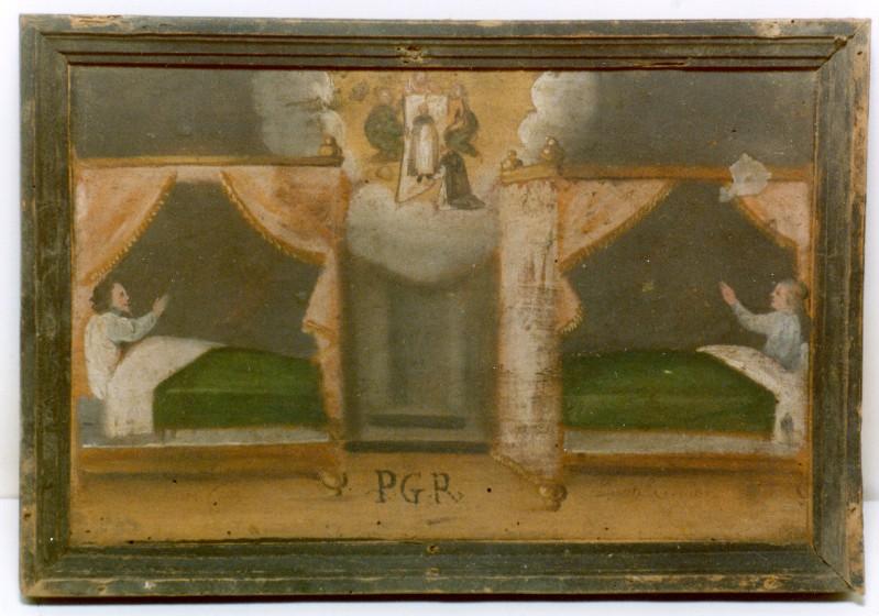 Ambito umbro sec. XVII, Miracolo di Soriano appare a due malati