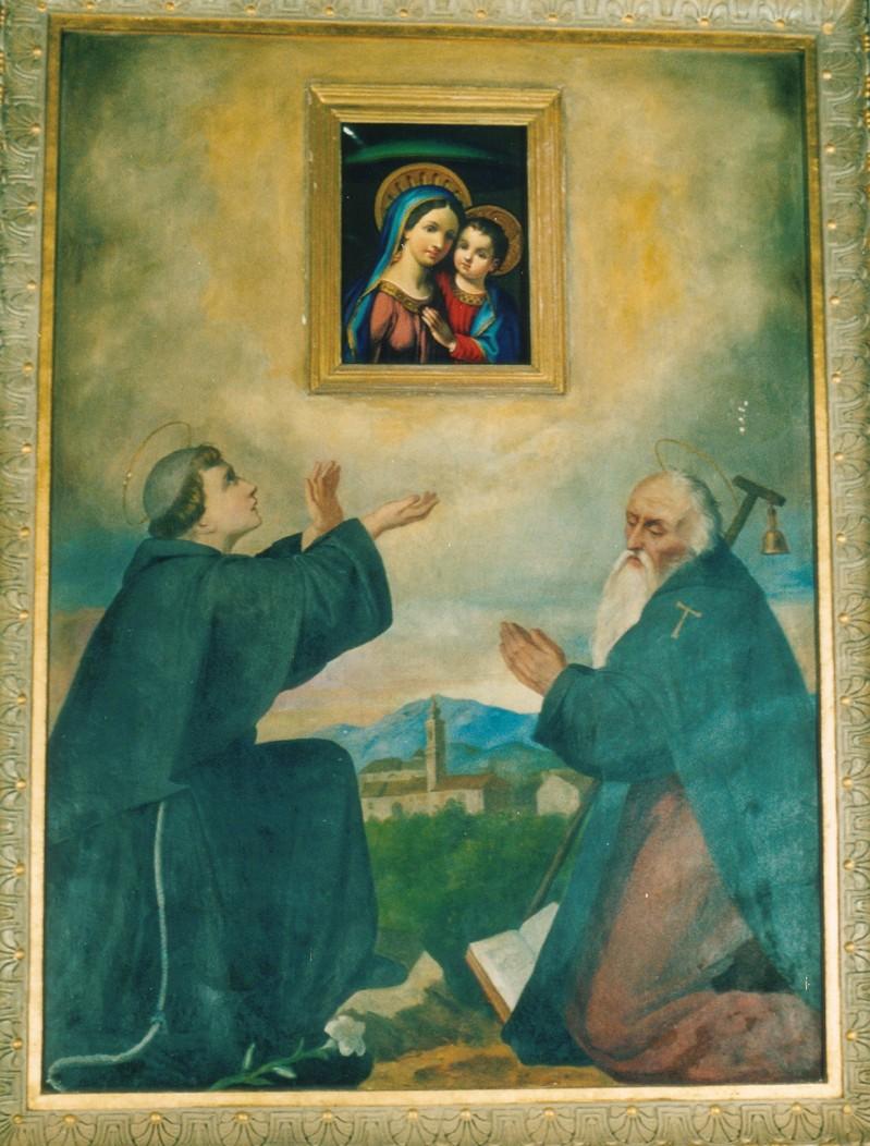 Ambito umbro sec. XIX, Sant'Antonio da Padova e Sant'Antonio Abate