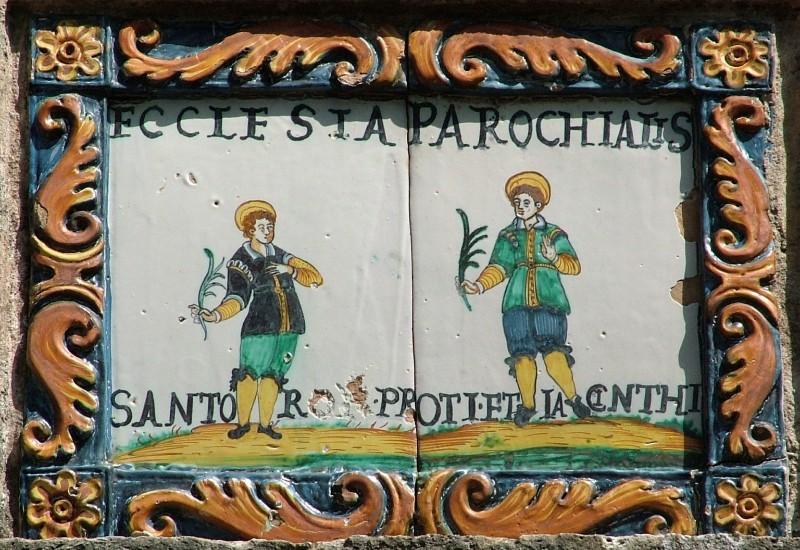 Bottega derutese sec. XVII, San Proto e San Giacinto