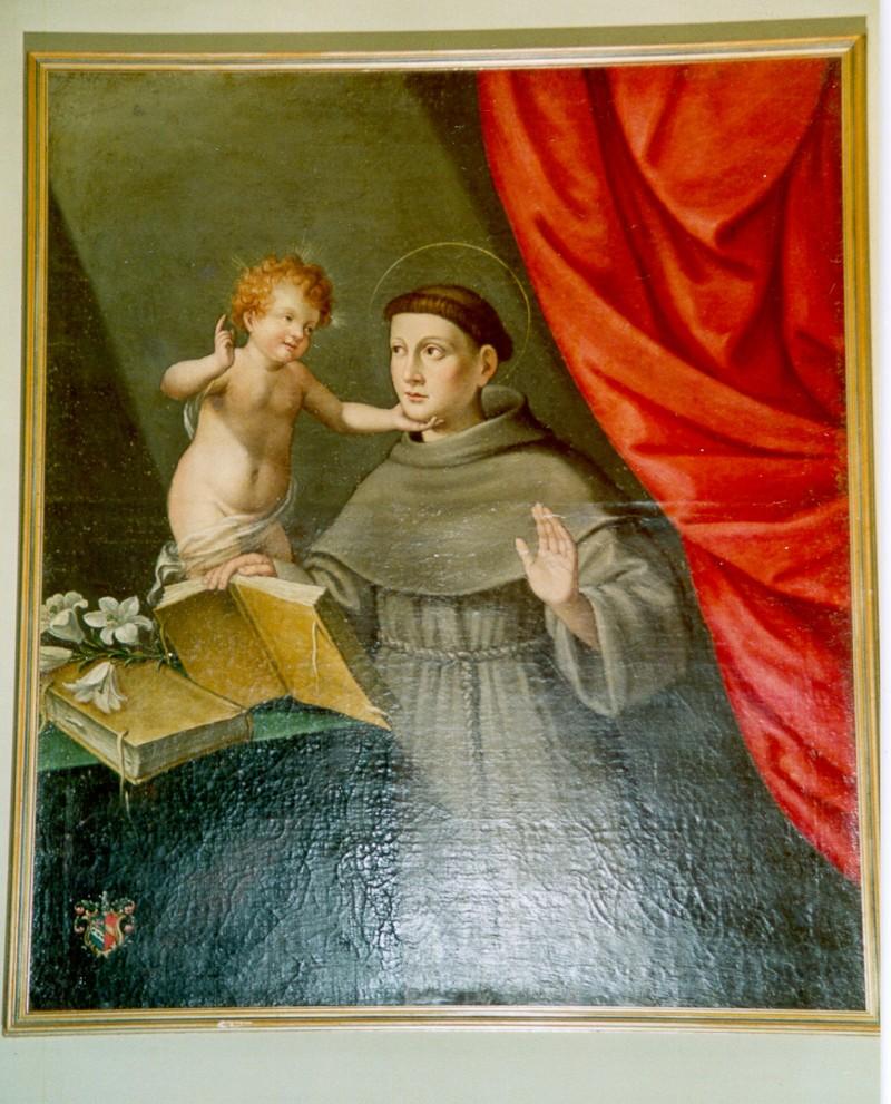 Ambito umbro del sec. XVIII, Sant'Antonio da Padova col Bambino
