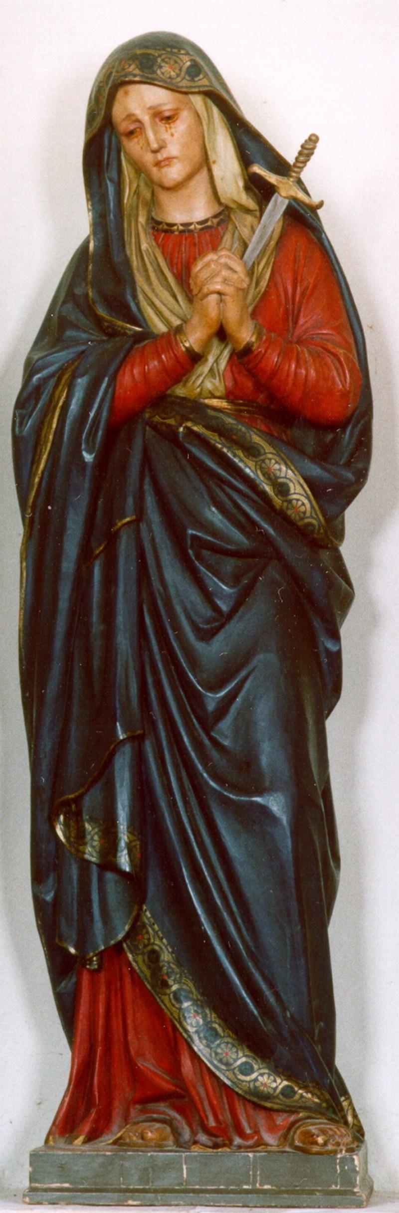 Ambito umbro sec. XVIII, Statua della Madonna addolorata