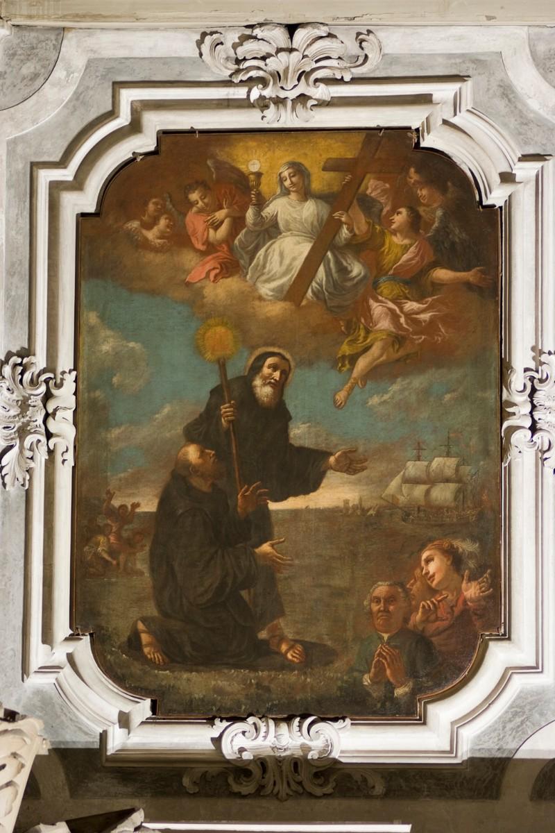 Alberghetti G. sec. XVIII, San Francesco di Paola tra Santi e committente