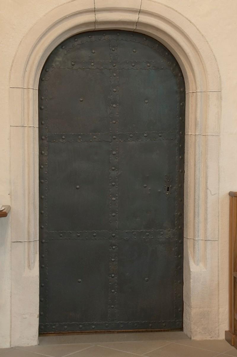 Bottega trentina secc. XVI-XVII, Porta di accesso alla sacrestia