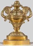 Ambito lombardo sec. XIX, Vaso portapalma con corpo baccellato