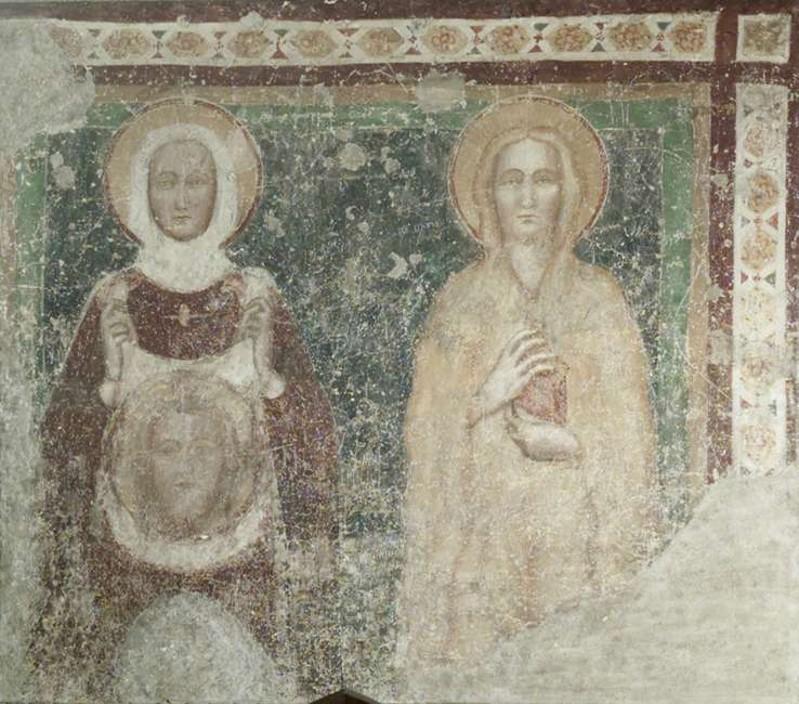 Ambito bergamasco sec. XV, S. Veronica e S. Maria Maddalena