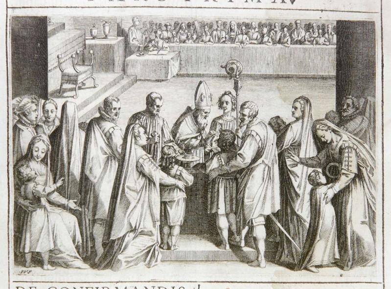 Villamena F. (1595), Sacramento della cresima 1/2