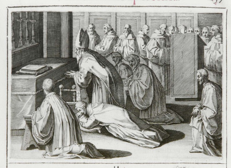 Ambito romano (1595), Benedizione dell'abate 4/9