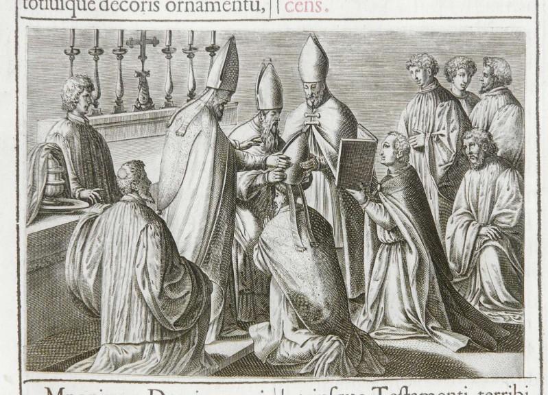 Ambito romano (1595), Consacrazione del vescovo 11/12