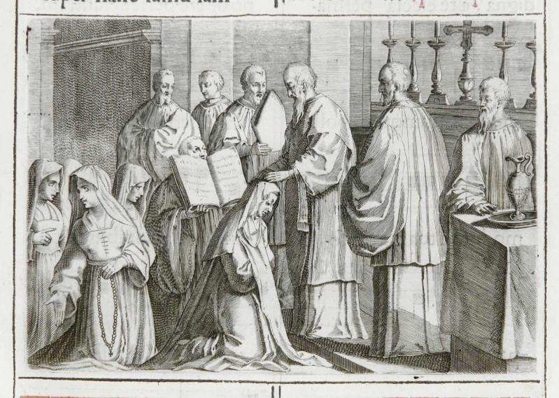 Ambito romano (1595), Benedizione della badessa 2/5