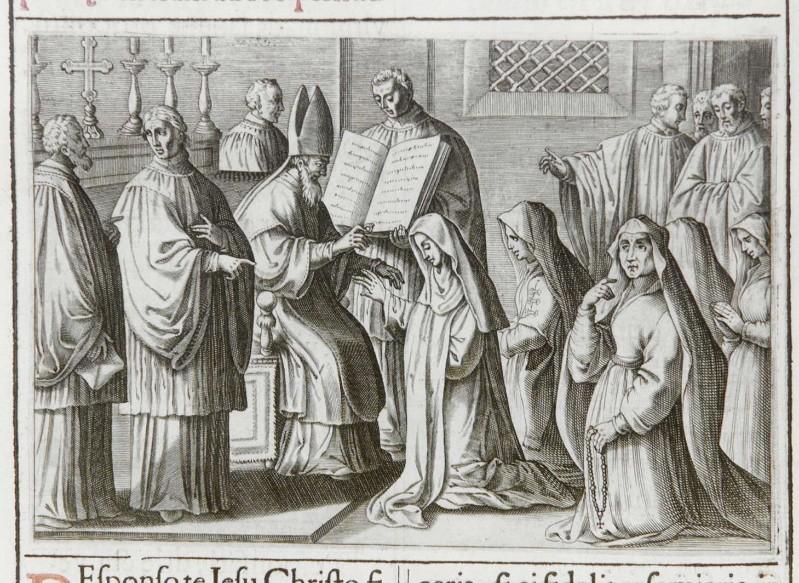 Ambito romano (1595), Benedizione e consacrazione delle vergini 4/7