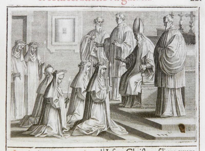 Villamena F. (1595), Benedizione e consacrazione delle vergini