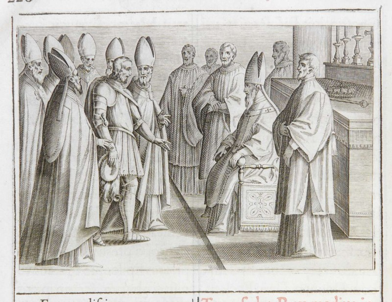 Ambito romano (1595), Benedizione e incoronazione del re 1/10