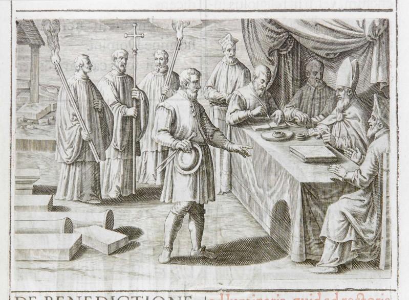 Ambito romano (1595), Benedizione della prima pietra di una chiesa 1/5
