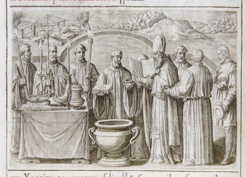 Ambito romano (1595), Benedizione della prima pietra di una chiesa 2/5