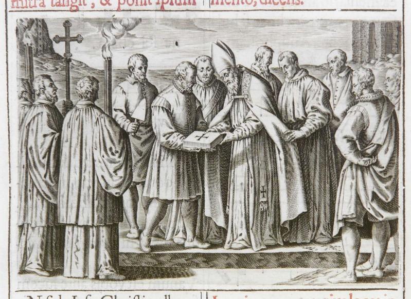 Ambito romano (1595), Benedizione della prima pietra di una chiesa 4/5
