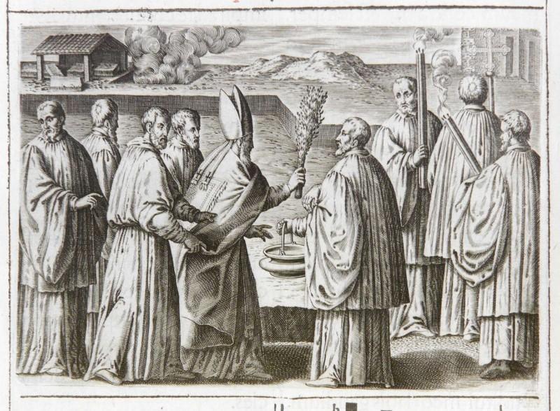 Ambito romano (1595), Benedizione della prima pietra di una chiesa 5/5