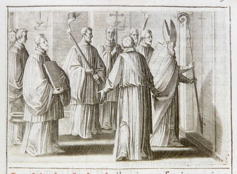 Villamena F. (1595), Dedicazione o consacrazione di una chiesa