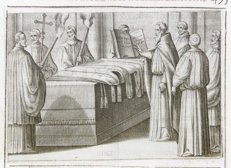 Ambito romano (1595), Benedizione degli indumenti sacerdotali