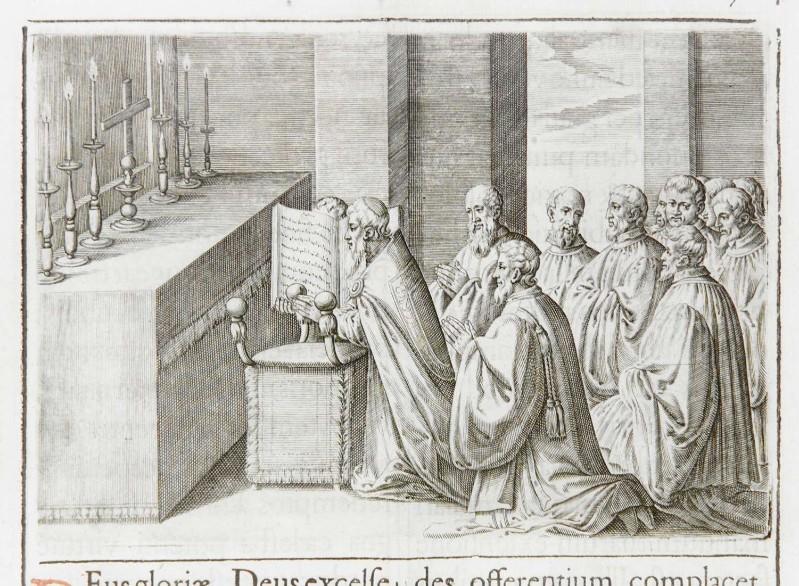 Ambito romano (1595), Benedizione della nuova croce 2/2