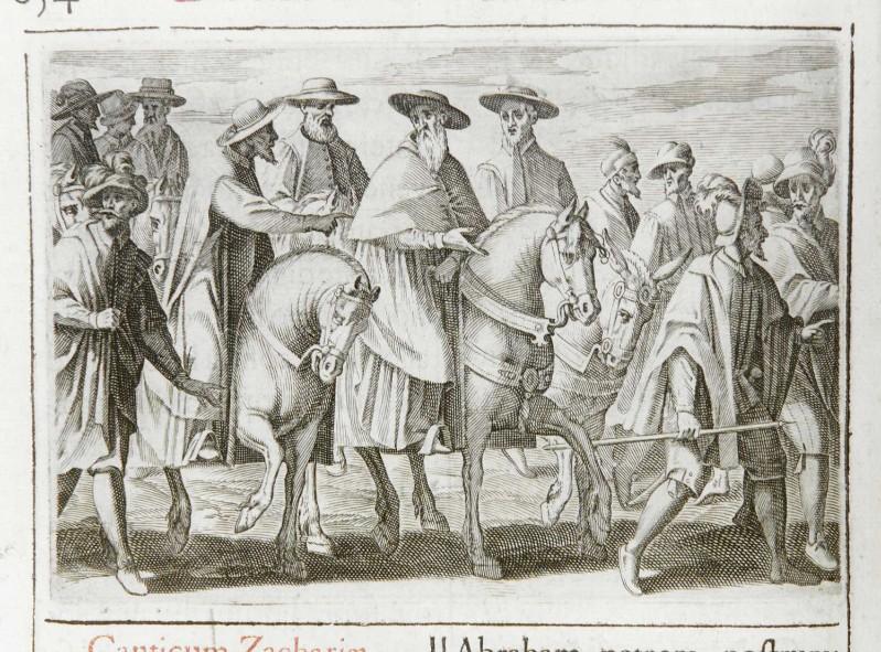 Ambito romano (1595), Prelati in viaggio