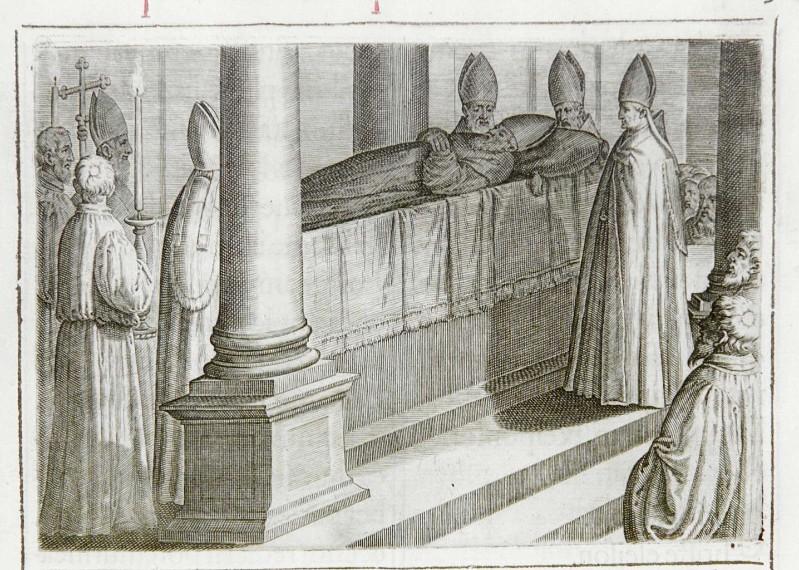 Ambito romano (1595), Officio funebre del vescovo o del prelato