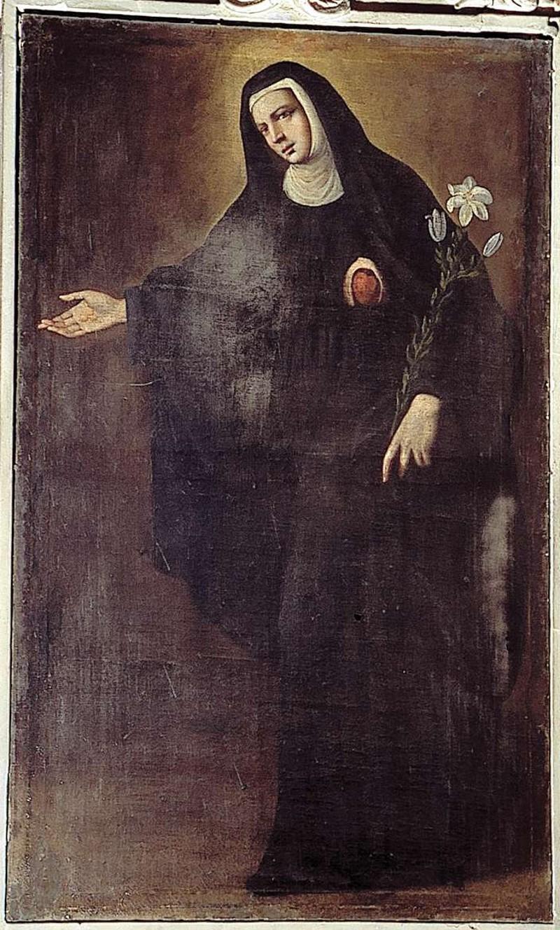 Ambito lombardo sec. XVII, Santa Chiara della Croce da Montefalco