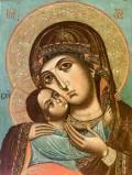 Ambito greco sec. XX (?), Madonna Glycofusa