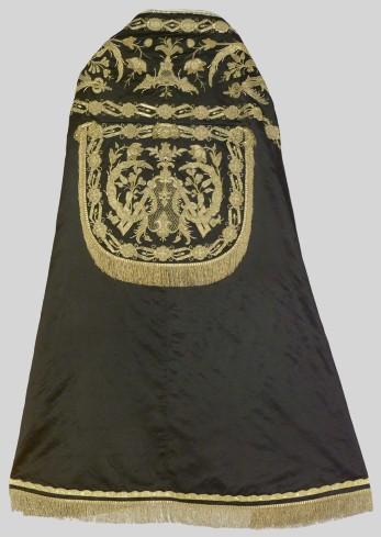Manifattura italiana sec. XVII- XVIII, Piviale nero