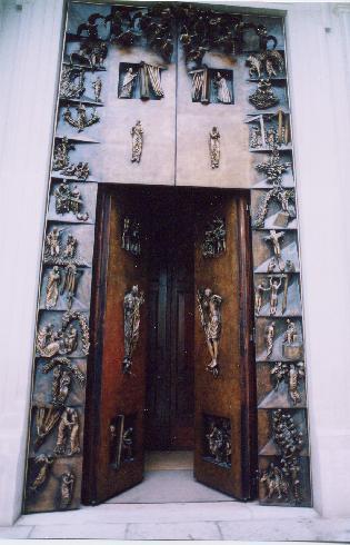 La Porta del Giubileo, 2002-2004, bronzo, cm 581 x 281, opera di Paolo Annibali