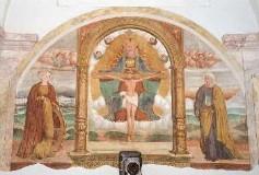 Ambito bergamasco (1571), Trinità con Santa Caterina e Santa Lucia