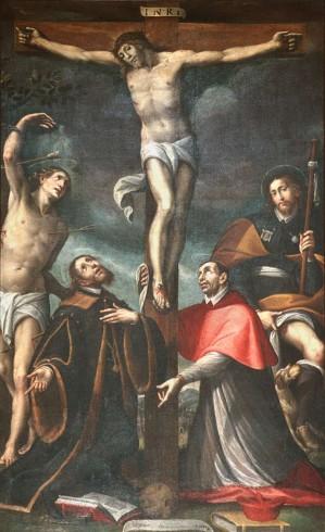 Della Rovere G. M. (1620), Gesù Cristo Crocifisso e Santi