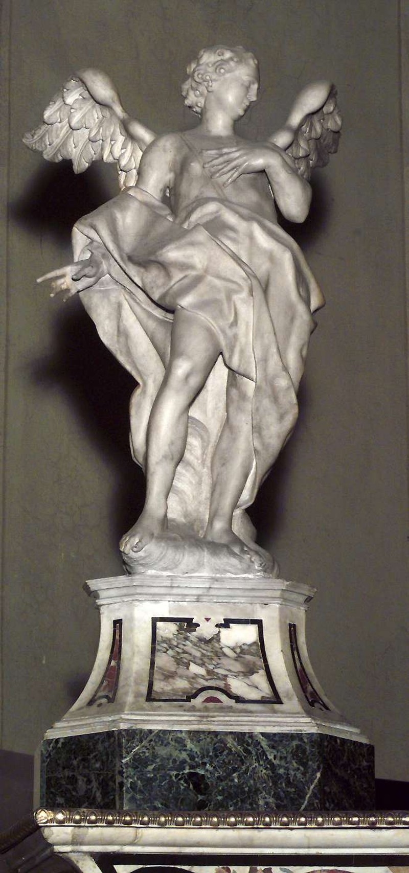 Calegari A. sec. XVIII, Angelo adorante a sinistra