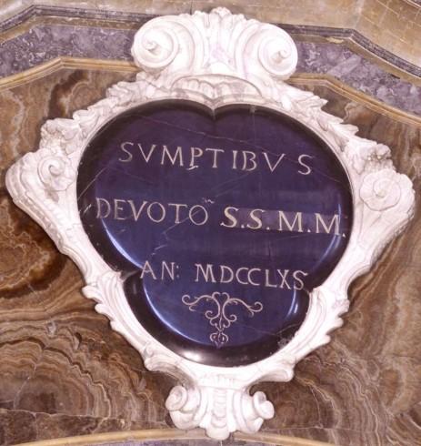Ambito bergamasco (1765), Cartiglio