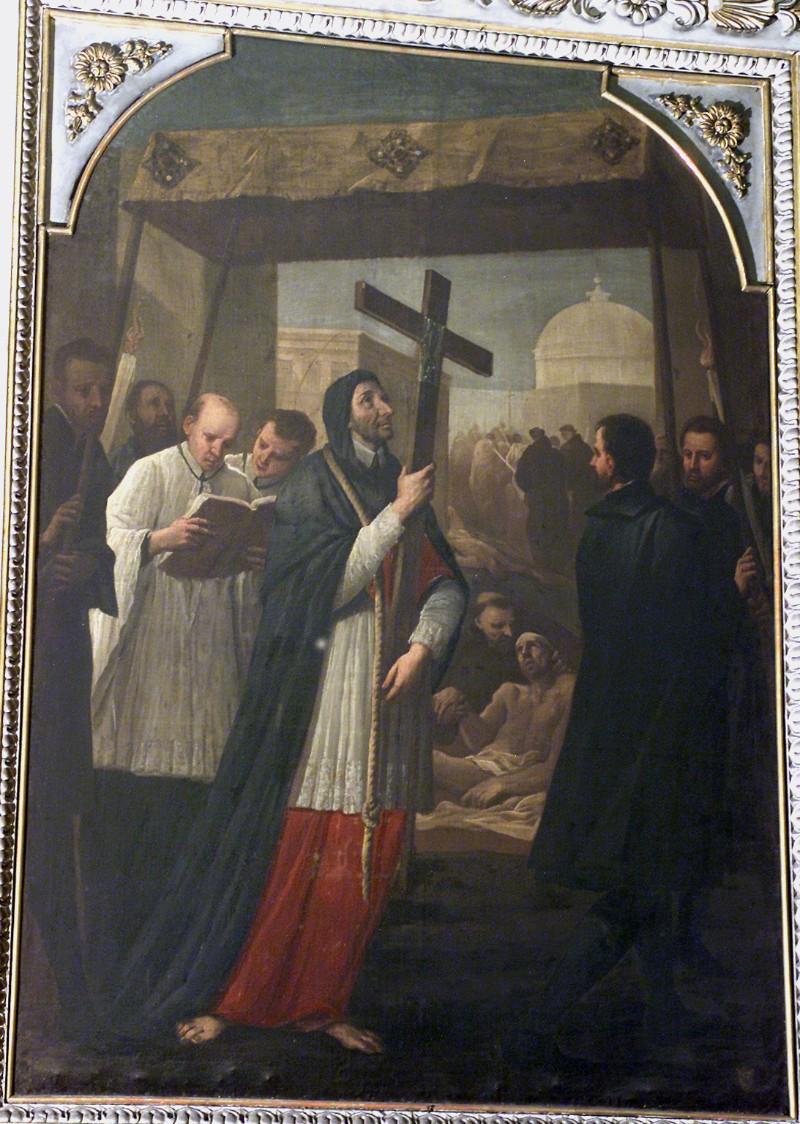 Cifrondi A. sec. XIX, S. Carlo penitente in processione