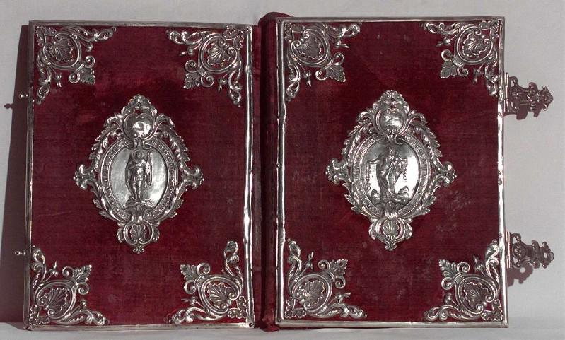 Bottega veneta sec. XIX, Coperta di libro liturgico