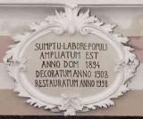 Ambito lombardo sec. XIX-XX, Cartiglio con iscrizione