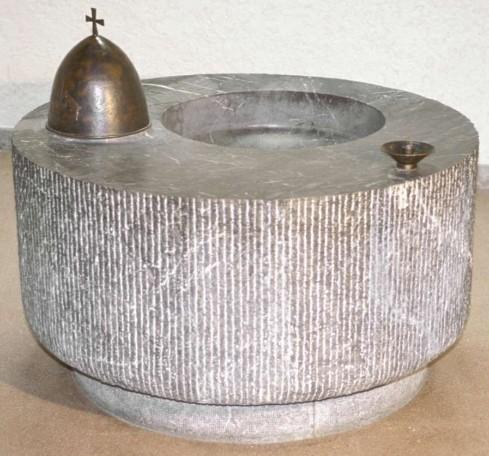 Sonzogni V. sec. XX, Fonte battesimale