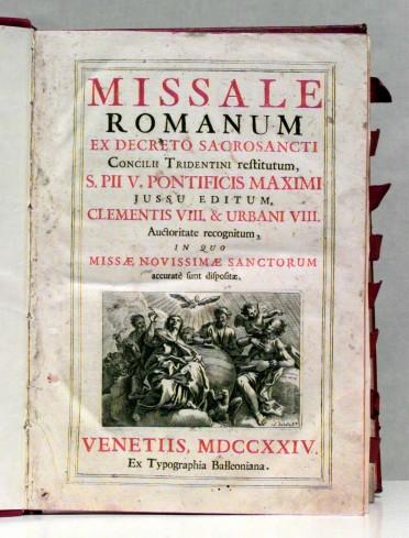 Ambito veneziano (1724), Messale