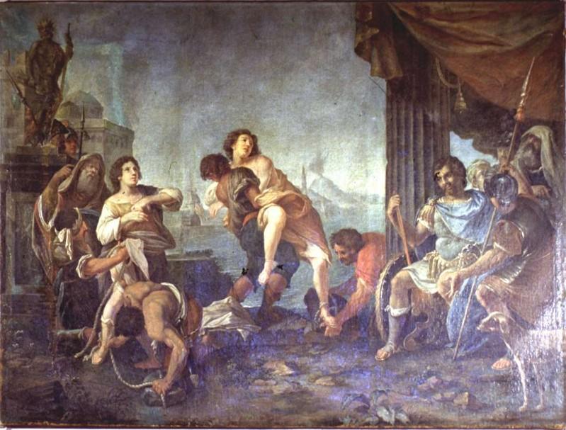 Ambito bergamasco sec. XVIII, Martirio dei Santi Faustino e Giovita