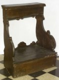 Ambito bergamasco sec. XIX, Inginocchiatoio in legno