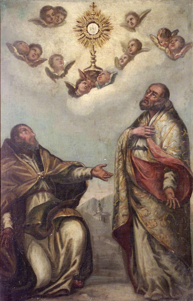 Ambito lombardo sec. XIX, San Cornelio e San Cipriano