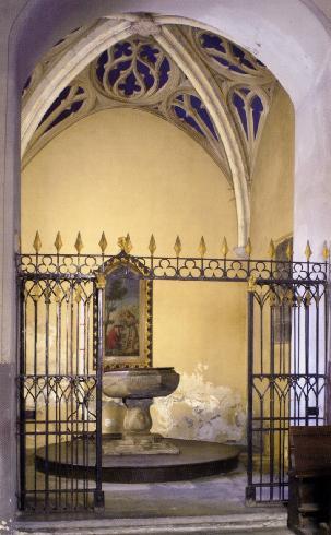 il fonte battesimale seicentesco