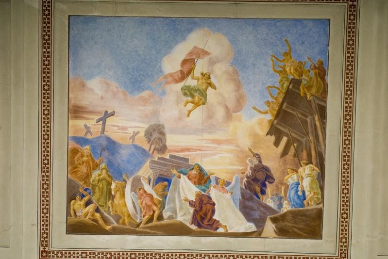 Melle G. (1949), Dipinto murale della Resurrezione di Gesù