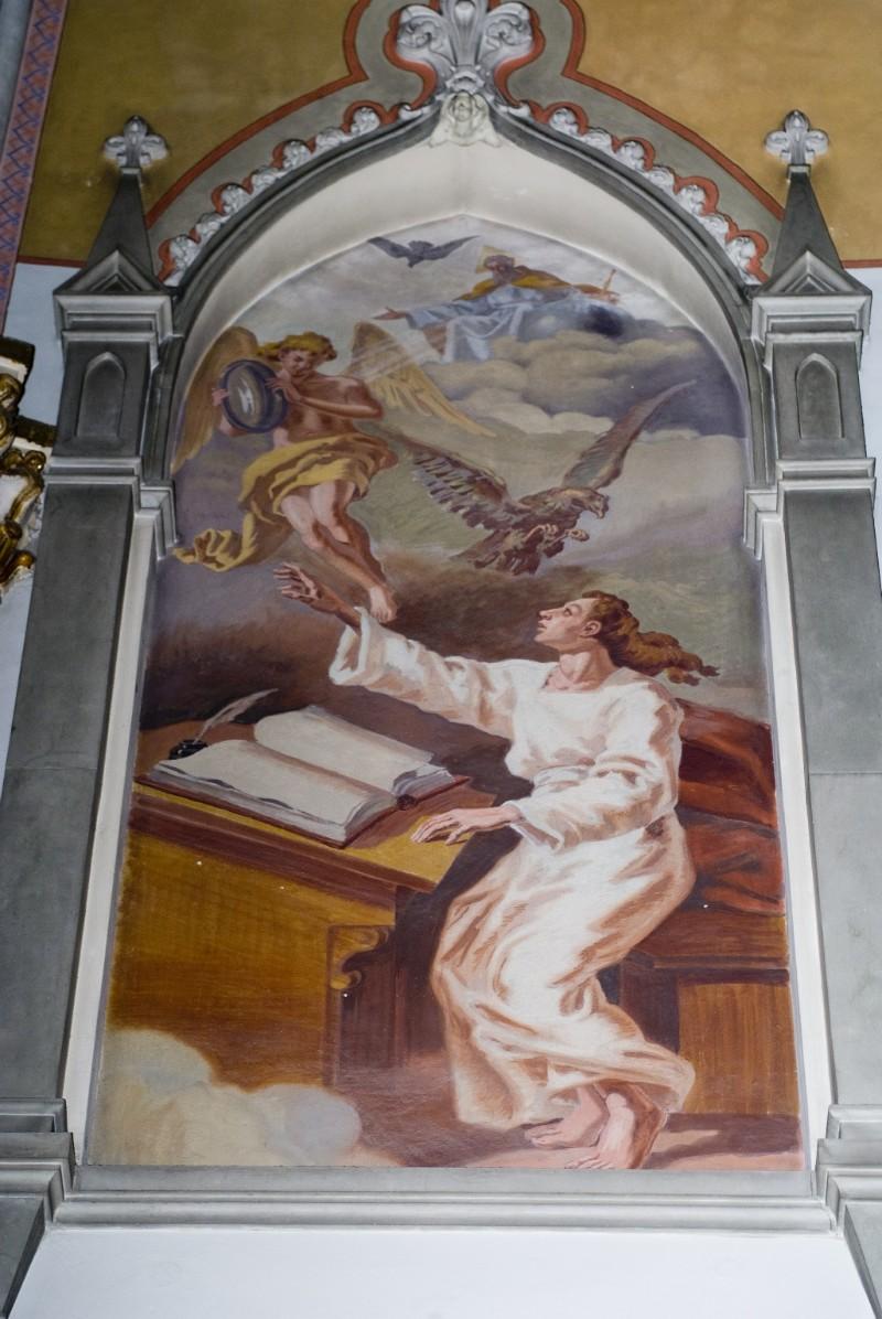 Melle G. sec. XX, Dipinto murale di San Giovanni Evangelista