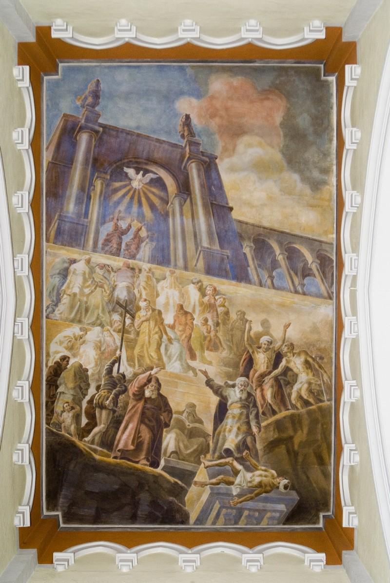 Melle G. (1955), Dipinto murale del martirio