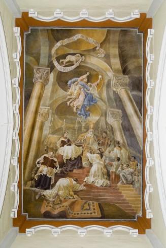 Melle G. (1955), Dipinto murale dell'ordinazione sacerdotale