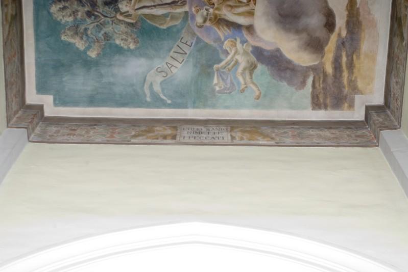 Melle G. (1955), Dipinto murale con iscrizione